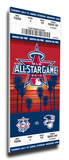 2010 MLB All-Star Game Mega Ticket, Angels Host - MVP Brian McCann, Braves Stretched Canvas Print