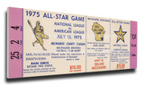 1975 MLB All-Star Game Mega Ticket, Brewers Host - MVP Bill Madlock, Cubs & Jon Matlack, Mets Stretched Canvas Print