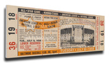 1958 MLB All-Star Game Mega Ticket - Orioles Host - Memorial Stadium Stretched Canvas Print