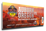 2011 BCS National Championship Game Mega Ticket - Auburn Tigers Stretched Canvas Print