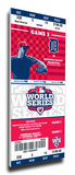 2012 World Series Mega Ticket - Detroit Tigers Stretched Canvas Print