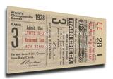 1928 World Series Mega Ticket - St Louis Cardinals Stretched Canvas Print