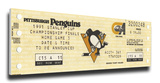 1991 NHL Stanley Cup Mega Ticket - Pittsburgh Penguins Stretched Canvas Print