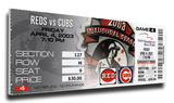 Sammy Sosa 500 Home Run Mega Ticket - Chicago Cubs Stretched Canvas Print