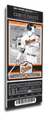 Chris Davis Artist Series Mega Ticket - Baltimore Orioles Stretched Canvas Print