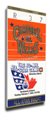 1989 NHL All-Star Game Mega Ticket, Oilers Host - MVP Gretzky Stretched Canvas Print