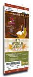2011 World Series Mega Ticket - St Louis Cardinals Stretched Canvas Print