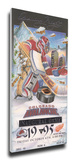 Colorado Avalanche Inaugural Game Mega Ticket Stretched Canvas Print