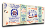 1971 MLB All-Star Game Mega Ticket, Tigers Host - MVP Frank Robinson, Orioles Stretched Canvas Print
