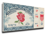 1952 Rose Bowl Mega Ticket - Illinois Fighting Illini Stretched Canvas Print