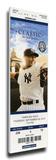 Mariano Rivera Final Game at Yankee Stadium Mega Ticket - New York Yankees Stretched Canvas Print