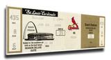 Ken Griffey Jr 500 Home Run Mega Ticket - Cincinnati Reds Stretched Canvas Print