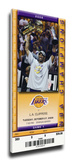 Los Angeles Lakers 2009 NBA Champions Banner Raising Mega Ticket Stretched Canvas Print