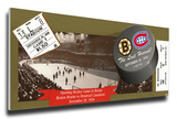 The Last Hurrah! Final Hockey Game at Boston Garden Mega Ticket - Bruins vs Canadiens Stretched Canvas Print