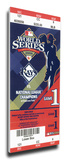 2008 World Series Mega Ticket - Tampa Bay Rays (First World Series) Stretched Canvas Print