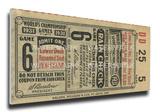 1931 World Series Mega Ticket - St Louis Cardinals Stretched Canvas Print