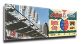 Cleveland Indians 1994 Opening Day / First Game at Jacobs Field Mega Ticket Stretched Canvas Print