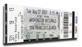 Barry Bonds 756 Home Run Mega Ticket - San Francisco Giants Stretched Canvas Print