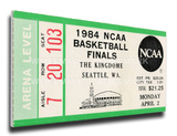 1984 NCAA Basketball Finals Mega Ticket - Georgetown Hoyas Stretched Canvas Print