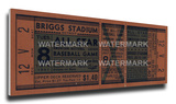 1941 MLB All-Star Game Mega Ticket - Tigers Host - Briggs Stadium Stretched Canvas Print