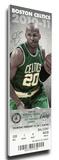 Ray Allen NBA 3 Point Record Mega Ticket - Boston Celtics Stretched Canvas Print