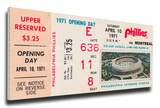 Philadelphia Phillies1971 Opening Day / First Game at Veterans Stadium Mega Ticket Stretched Canvas Print