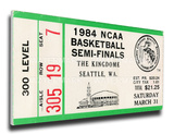 1984 NCAA Basketball Semi-Finals Mega Ticket - Georgetown Hoyas Stretched Canvas Print
