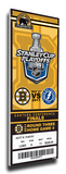 2011 NHL Eastern Conference Final Commemorative Mega Ticket - Boston Bruins Stretched Canvas Print
