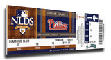 Roy Halladay 2010 NLDS Game 1 No-Hitter Mega Ticket - Philadelphia Phillies Stretched Canvas Print