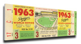 1963 World Series Mega Ticket - Los Angeles Dodgers Stretched Canvas Print