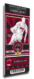 Lebron James Artist Series Mega Ticket - Miami Heat (Speakman) Stretched Canvas Print