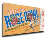 1971 Rose Bowl Mega Ticket - Stanford Indians Stretched Canvas Print