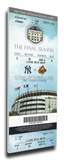 Final Game at Yankee Stadium Mega Ticket Stretched Canvas Print
