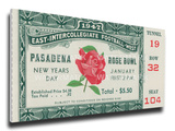 1947 Rose Bowl Mega Ticket - Illinois Fighting Illini Stretched Canvas Print