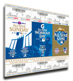 2012 MLB All-Star Game Mega Ticket Strip - Kansas City Royals - MVP Melky Cabrera Stretched Canvas Print