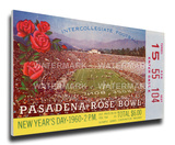 1960 Rose Bowl Mega Ticket - Ohio State Buckeyes Stretched Canvas Print