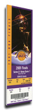 2001 NBA Finals Mega Ticket - Los Angeles Lakers Stretched Canvas Print