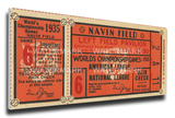 1935 World Series Mega Ticket - Detroit Tigers Stretched Canvas Print