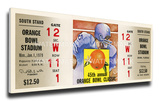 1979 Orange Bowl Mega Ticket - Oklahoma Sooners Stretched Canvas Print