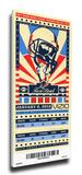 2012 Rose Bowl Mega Ticket - Oregon Ducks Stretched Canvas Print
