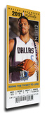 2011 NBA Finals Mega Ticket - Game 4, Chandler - Dallas Mavericks Stretched Canvas Print