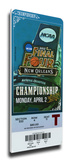 2012 Final Four Mega Ticket - Kentucky Wildcats Stretched Canvas Print