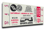 1975 NCAA Basketball Semi-Finals Mega Ticket - UCLA Bruins Stretched Canvas Print
