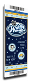 2008 NHL Winter Classic Commemorative Mega Ticket - Penguins vs Sabres Stretched Canvas Print