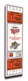 1987 World Series Mega Ticket - Minnesota Twins Stretched Canvas Print