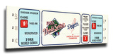 1988 World Series Mega Ticket - Los Angeles Dodgers Stretched Canvas Print