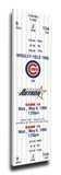 Kerry Wood 20K Game Mega Ticket - Chicago Cubs Stretched Canvas Print