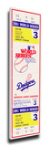 1981 World Series Mega Ticket - Los Angeles Dodgers Stretched Canvas Print