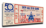 1979 MLB All-Star Game Mega Ticket, Mariners Host - MVP Dave Parker, Pirates Stretched Canvas Print