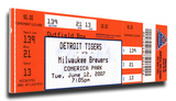 Justin Verlander No-Hitter Mega Ticket - Detroit Tigers Stretched Canvas Print